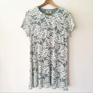 SHOW ME YOUR MUMU | em mini dress sage lace